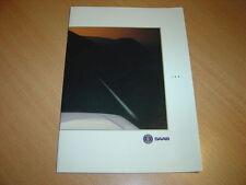 CATALOGUE gamme Saab  de 1991 papier glacé