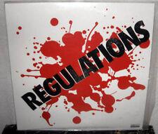 REGULATIONS S/T LP PUNK ROCK Melodic Hardcore EPILEPTIC TERROR ATTACK Black Wax
