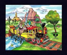 Dominica - 1987 - Disney - Train - Rainbow Caverns - Dwarfs - Mint Mnh S/Sheet!