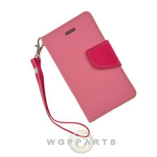 Apple iPhone 4/i4S Wallet Pouch Pink/Hot Pink Case Cover Shell Protector