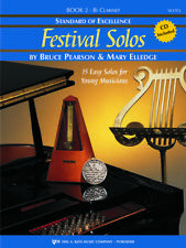 Standard of Excellence: Festival Solos Book 2 - Bb Clarinet Book and Cd W37Cl