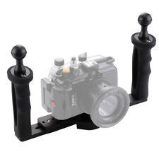 PULUZ Underwater Camera Housings Dual Handle Aluminum Tray Stabilizer