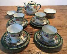 VINTAGE SMALL 1900-1940s  TEA SET - FLORAL- HAND PAINTED 8 PIECES