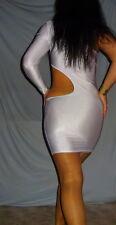Schönes Damen-Partykleid One Shoulder Cut Outs Mini Weiß Gr. M/38/40 NEU