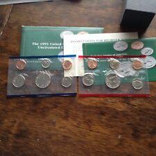 1993 D & P Uncirculated Mint Set w/envelope
