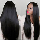 Straight Wigs Fashion Black Long Wig Wavy Full Hair Party Cosplay Heat Resistant