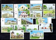Fiji 1979 Definitives (17) Architecture Buildings-Ordinaria 17 Val. - New - MNH