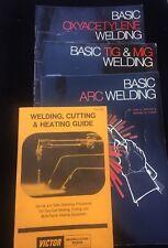 Arc Welding Tig Oxyacetylene Mig Basic Book Ivan Griffin Edward Roden Lot of 4