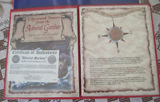 1808 ADMIRAL GARDNER SHIPWRECKED COIN - X CASH -- EAST INDIA COMPANY w/ COA
