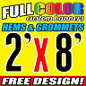 Custom 2' x 8' FT Banner 16oz Vinyl/Flex Outdoor premium Quality Advertise Sign