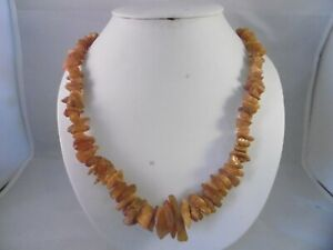 """Gorgeous vintage natural Amber necklace. 32"""" 45g"""