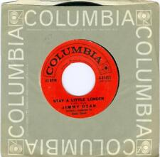 Jimmy Dean  STAY A LITTLE LONGER / COUNTING TEARS  1959  Columbia 4-41453  45rpm