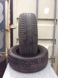 TWO 235-55-17 NOKIAN M&S PART WORN  TYRES