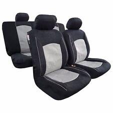 New 9pcs Velour Sports Design Car Seat Cover Universal Gray Black For Colorado