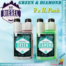 2x 1L PACK SENSI PRO BIO DIESEL GREEN & DIAMOND HYDROPONICS ORGANIC NUTRIENT KIT