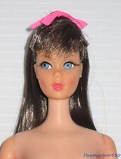 Beautiful Twist N Turn Dark Brunette Barbie Doll W/ Original Swimsuit Circa 1968