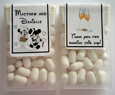 28 DISNEY MICKEY AND MINNIE WEDDING FAVORS TIC TAC LABELS