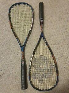 Two(2) Black Knight Viper Titanium Graphite SQ-5260 Racquet Squash new overgrips