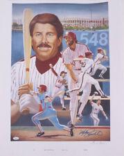 Mike Schmidt Signed Philadelphia Phillies 22x28 Lithograph (JSA COA)