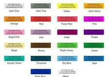 250 1000 Coloured Personalised Sticky Address Labels Stickers Waterproof