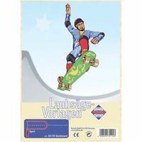 PEBARO Laubsägevorlage Skateboard
