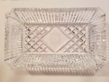 Waterford Lead Crystal Marshall Field's Etched Clock Mint/ Jewelry/ Tray/ Dish