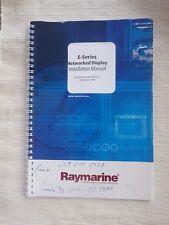 Raymarine E Series E80 E120 Installation Operating DSM300 Sounder SR100 Weather