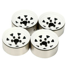 4PCS One Pack 1:10 RC Crawler 1.9 Inches White Metal Wheel Rim