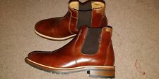 Russell & Bromley Men's Burgundy/Brown Leather Chelsea Boots/Shoes 7UK/EU41 US8