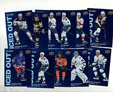 2019-20 Upper Deck Allure Iced Out Insert Lot (11) Cards Connor McDavid ++