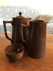 Vintage Gibson's England Stoneware Coffee Pot Milk Jug and Sugar Bowl