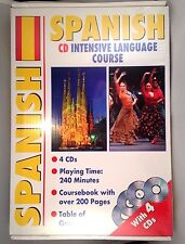 Learn Spanish Intensive Language Course 4 Audio CD + Course Book + Grammar Table