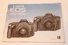 Camera Manual Canon EOS 620- 650 Instruction Guide