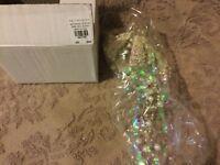 Pottery Barn ~PEARL & TINSEL JELLYFISH~ Coastal GLASS Ornament  CHRISTMAS!!!