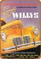 "1940 Willys Automobiles Rustic Retro Metal Sign 7"" x 10"""