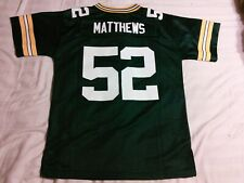 NWT NFL Green Bay Packers Clay Matthews 52 Youth Football Jersey L (14-16)