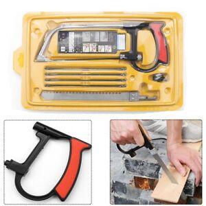 Hacksaw Heavy Duty Mini Saw Metal Woodworking Cutting Hand Tool Blades Kit