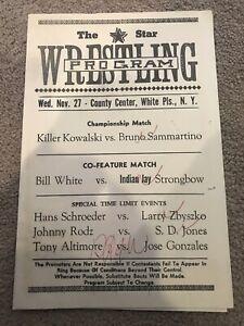 vintage November 27 1974  Championship Wrestling Program Kowalski Vs Sammartino