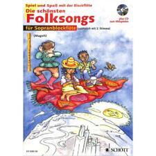 Spiel und Spaß mit der Blockflöte: Die schönsten Folksongs (+CD) - 9790001130943