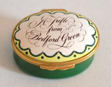 "Halcyon Days Enamels ""A Trifle From Bedford Green"" Trinket Box"