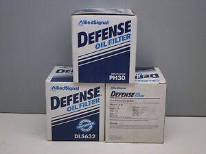 Lot of (3) Defense DL5632 Engine Oil Filter PH30 V-49 1069 PF25 PF35 51069 CF25