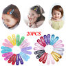 20x Snap Hair Clips for Hair Clip Pins BB Hairpins Color Metal Barrettes 5cm UK