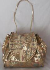 Vintage Claudia Firenze 1982 Vintage Leather Metallic Drawstring Purse