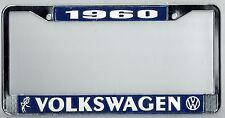 1960 Volkswagen VW Bubblehead Vintage California License Plate Frame BUG BUS T-3