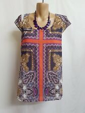 MILLY & MAUDE BNWT  SIZE XS  rETHNIC COLOURFULL SMART CASUAL TOP
