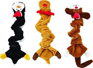 """SPOT ETHICAL HOLIDAY SKINNEEEZ BUNGEE DOG CHRISTMAS 21"""" TOY. LOT OF THREE TOYS"""
