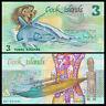 Cook Islands 3 Dollars Banknote, 1987, P-3, UNC, Australia Paper Money