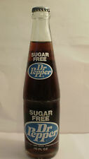 1974 ACL LABEL SUGAR FREE DR PEPPER FULL BOT WITH DALLAS, FT. WORTH TEXAS TX CAP