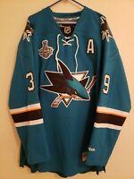 Reebok Premier San Jose Sharks Logan Couture Stanley Cup jersey XXL
