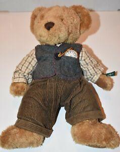 """Sir Bradford 13"""" Teddy Bear Limited Edition Russ Plush - Dressed w/ Vest & Watch"""